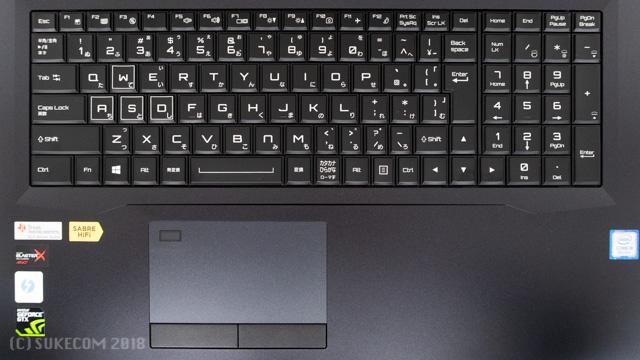 NG7630のキーボード
