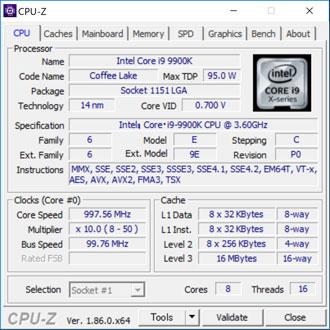 CPUの詳細情報