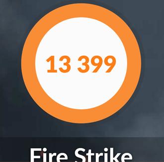 DAIV-NG7510のFireStrike結果