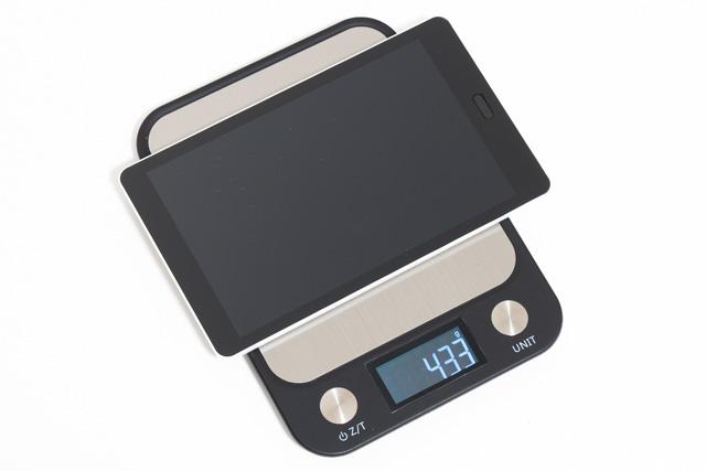 raytrektabの重量